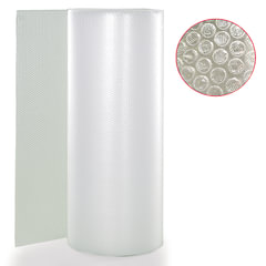 Пленка воздушно-пузырчатая 2-слойная, ширина 1,2 м, длина 100 м, плотность 75 г/<wbr/>м<sup>2</sup>