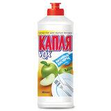 Средство для мытья посуды, 500 мл, КАПЛЯ VOX активный кислород, «Яблоко»