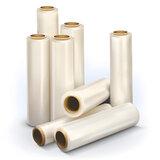 Стрейч-пленка для упаковки поддонов (паллет) ЭКОНОМ, ширина 500 мм, длина 130 м, 1 кг, 17 мкм, растяжение 180%