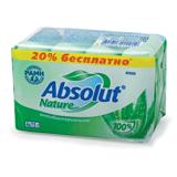 Мыло туалетное ABSOLUT (Абсолют), комплект 4 шт. х 75 г, «Алоэ», антибактериальное