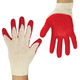 Перчатки хлопчатобумажные ЛАЙМА ЛЮКС (обливные), комплект 5 пар, латексная обливная ладонь, 40-44 г, 100 текс