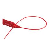 Пломба пластиковая номерная, самофиксирующаяся, длина рабочей части 320 мм, красная, комплект 1000 шт.