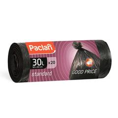 Мешки для мусора, 30 л, комплект 20 шт., рулон, ПНД, 50×60 см, 7 мкм, черные, PACLAN «Standard»