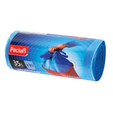 Мешки для мусора, 35 л, комплект 30 шт., рулон, ПНД, 50×64 см, 15 мкм, с ушками, синие, PACLAN «Multitop»