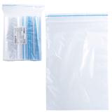Пакеты с замком «зиплок» (гриппер), комплект 100 шт., 120×170 мм, 35 мкм