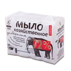 Мыло хозяйственное 72%, 100 г х 4 шт. (Невская Косметика), в упаковке