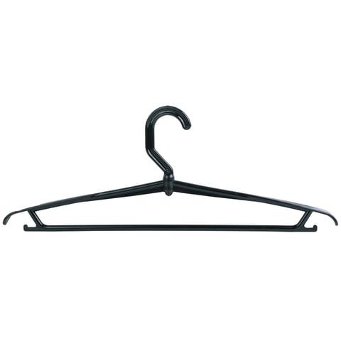 Вешалка-плечики вращающаяся, пластиковая, цвет черный, р. 46-48, 42 см, цвет черный