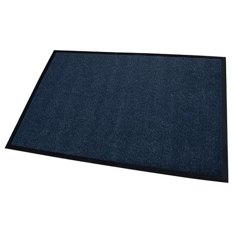 Коврик входной ворсовый влаго-грязезащитный FLOORTEX, 80×120 см, ворс 4,5 мм, основа 2,5 мм, темно-синий