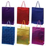 Пакет подарочный ламинированный, 22×31×9 см, голографический цвет ассорти
