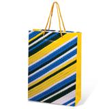 Пакет подарочный ламинированный, 22×31×9 см, геометрия, ассорти