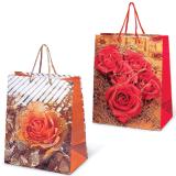 Пакет подарочный ламинированный, 26×32×15 см, «Цветы»