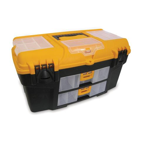 """Ящик для инструментов IDEA «Уран», 21"""", 28×53×29 см, 3 бокса для мелочей, 2 выдвижные консоли"""