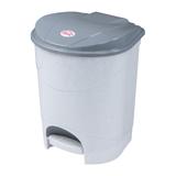 Ведро-контейнер для мусора с педалью IDEA, 11 л., серое, (33×20×27 см)