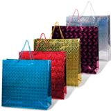 Пакет подарочный ламинированный, 38×38×16 см, голографический, цвет ассорти
