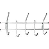 Вешалка настенная, металлическая, 5 крючков, 280×600×110 мм, «Стандарт 2/<wbr/>5», цвет белый