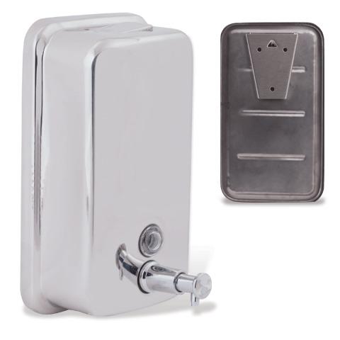 Диспенсер для жидкого мыла BXG antivandal, НАЛИВНОЙ, нержавеющая сталь, 1 л
