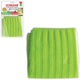 Салфетка для кафеля ЛАЙМА «Скраббер», плотная микрофибра, двусторонняя, 30×30 см, зеленая