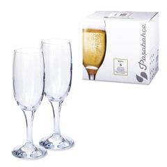 Набор фужеров «Bistro» для шампанского, 6 шт., 190 мл, стекло, PASABAHCE