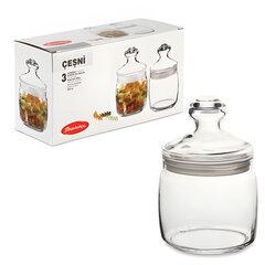 Банки с крышкой «Cesni» для сыпучих продуктов, набор 3 шт., 650 мл, стекло, PASABAHCE