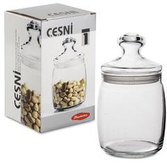 Банка с крышкой «Cesni» для сыпучих продуктов, 1 шт., 940 мл, стекло, PASABAHCE
