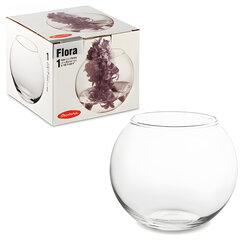Ваза «Flora», круглая, высота 10 см, стекло, PASABAHCE
