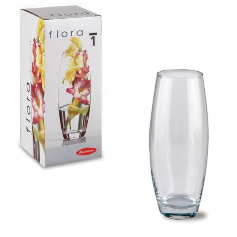 """Ваза """"Flora"""", овальная, высота 26 см, стекло, PASABAHCE"""