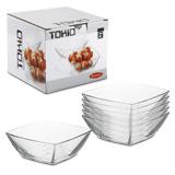 Набор тарелок PASABAHCE «Tokio», 6 шт., квадратные, 160×160 мм, глубокие