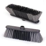 Щетка для уборки IDEA «Стандарт», ширина 27см, высота щетины 7см, пластик, черная (черенок 601322)