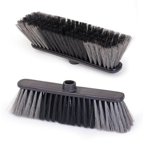 """Щетка для уборки """"Стандарт"""", ширина 27 см, высота щетины 7 см, пластик, черная (черенок 601322), IDEA"""