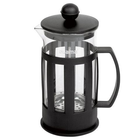 """Заварник (френч-пресс) WALTZ / ЛАЙМА """"Калейдоскоп"""", 350 мл, жаропрочное стекло/пластик, черный"""