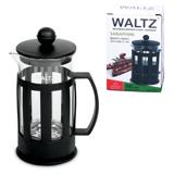 Заварник (френч-пресс) WALTZ / ЛАЙМА, 350 мл, жаропрочное стекло/<wbr/>пластик, черный