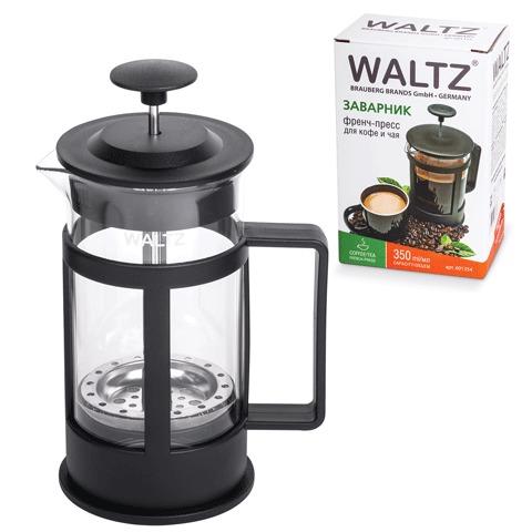 Заварник (френч-пресс) WALTZ / ЛАЙМА «Утро», 350 мл, жаропрочное стекло/<wbr/>пластик, черный