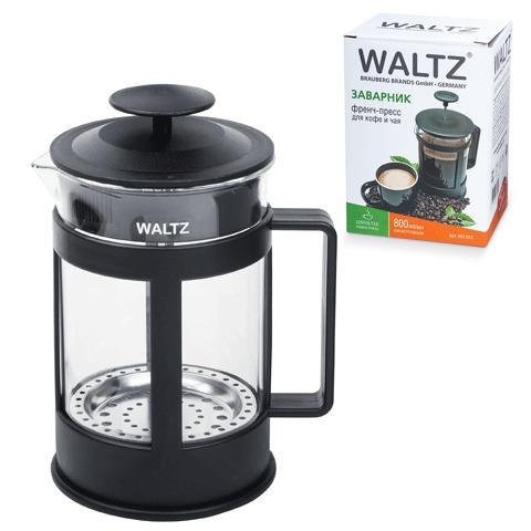 Заварник (френч-пресс) WALTZ / ЛАЙМА «Утро», 800 мл, жаропрочное стекло/<wbr/>пластик, черный