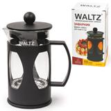 Заварник (френч-пресс) WALTZ / ЛАЙМА, 600 мл, жаропрочное стекло/<wbr/>пластик, черный