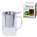 Кружка для заваривания чая/<wbr/>кофе WALTZ / ЛАЙМА, 300 мл, жаропрочное стекло/<wbr/>нержавеющая сталь