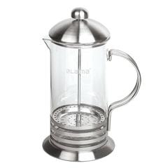 Заварник (френч-пресс) ЛАЙМА «Элит», 600 мл, жаропрочное стекло/<wbr/>нержавеющая сталь + пластиковая ложка