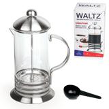 Заварник (френч-пресс) WALTZ / ЛАЙМА, 1 л, жаропрочное стекло/<wbr/>нержавеющая сталь+пластиковая ложка