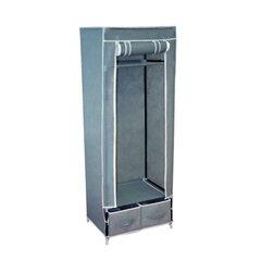 Шкаф тканевый для одежды 2018, 1600×600×450 мм, 2 ящика, металлический каркас, серый