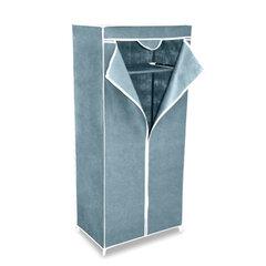 Шкаф тканевый для одежды 2012, 1550×700×440 мм, металлический каркас, чехол серый