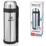 Термос WALTZ / ЛАЙМА классический с узким горлом, 1,8 л, нержавеющая сталь, пластиковая ручка