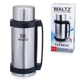 Термос WALTZ / ЛАЙМА классический с узким горлом, 2,6 л, нержавеющая сталь, пластиковая ручка