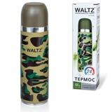 Термос WALTZ / ЛАЙМА с узким горлом, 0,5 л, нержавеющая сталь, хаки