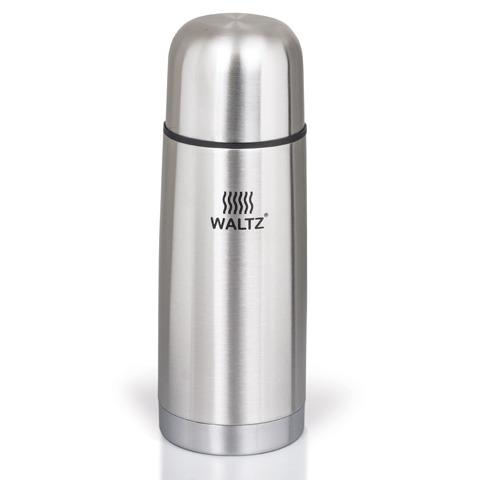 Термос WALTZ / ЛАЙМА классический с узким горлом, 0,35 л, нержавеющая сталь