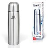 Термос WALTZ / ЛАЙМА классический с узким горлом, 1 л, нержавеющая сталь