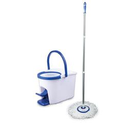 Набор для уборки ЛАЙМА, ведро 5 л с отжимом и педалью, швабра с круглой насадкой, для дома и офиса