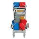 Тележка уборочная ЛАЙМА «Проф», ведра: 2×20 л, 2×11 л, механический отжим, держатель для мешка, мешок, 2 поддона