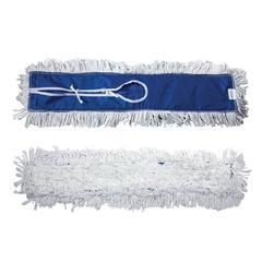 Насадка МОП для швабры-рамки ЛАЙМА «Проф», завязки, длинный ворс, хлопок, 60×15 см (держатель 601505)
