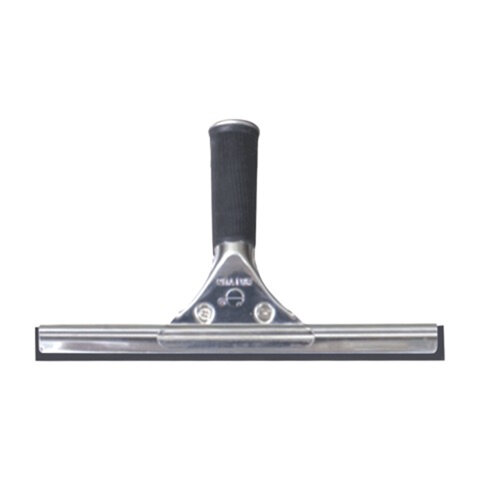 Стяжка для удаления жидкости со стекол ЛАЙМА «Проф», металлическая основа, рабочая часть 25 см (ручка 601514, 601515)