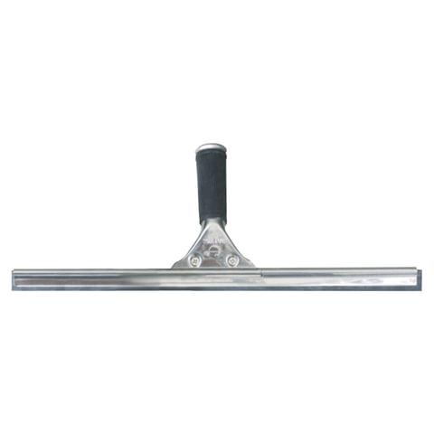 Стяжка для удаления жидкости со стекол ЛАЙМА «Проф», металлическая основа, рабочая часть 45 см (ручка 601514, 601515)