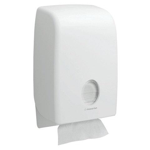 Диспенсер для полотенец KIMBERLY-CLARK Aquarius, Interfold, белый, полотенца 126115 — 126120, АРТ. 6945
